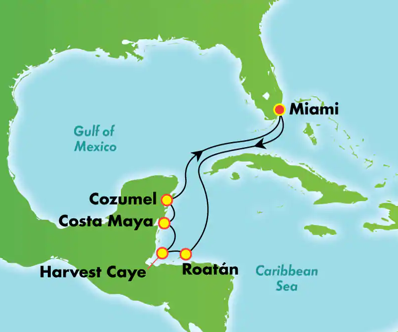 Crociera 7 giorni Caraibi occidentali da Miami